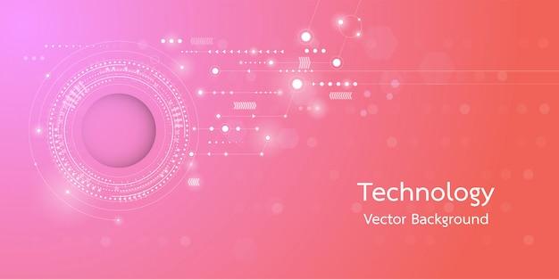 Immagine concettuale del fondo di tecnologia digitale 3d. Vettore Premium