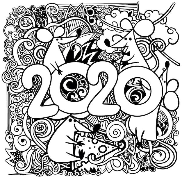 Immagine del concetto di felice anno nuovo simbolo cinese Vettore Premium