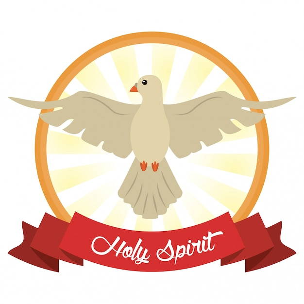 Immagine di speranza di fede di spirito santo Vettore Premium