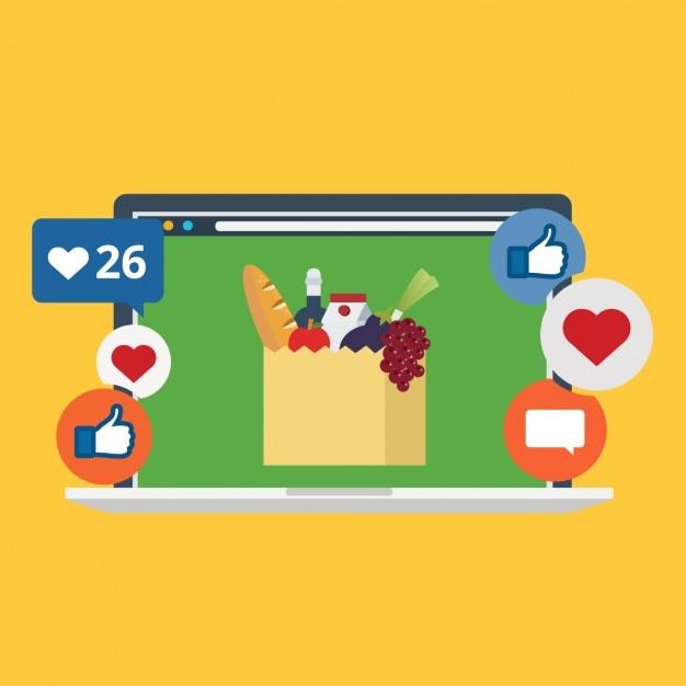 Immagine in reti di progettazione sociale Vettore gratuito