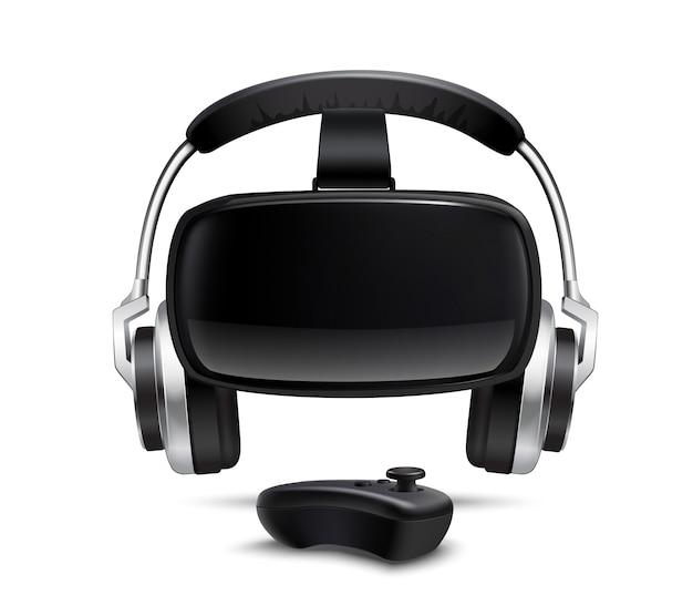 Immagine realistica di gamepad headphones headphones headphones Vettore gratuito