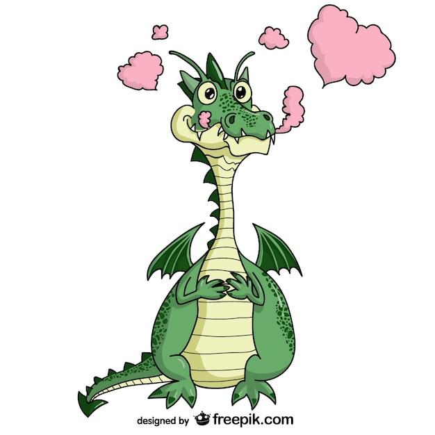 Immagine vettoriale cartone animato dragon scaricare