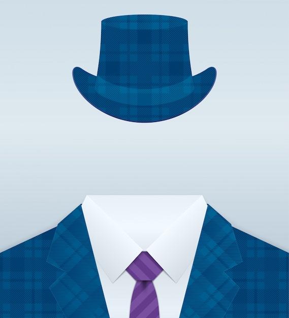 Immagine vettoriale di close up vestito con cappello Vettore Premium