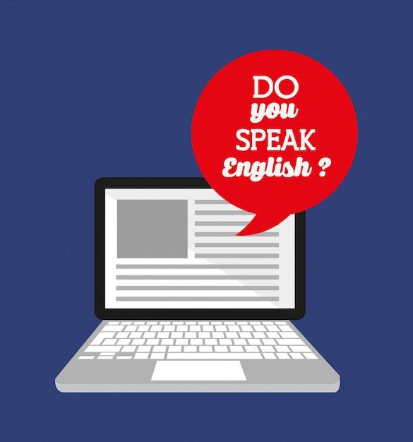 Impara il design inglese Vettore gratuito