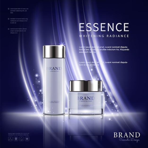 Imposta annunci cosmetici Vettore Premium