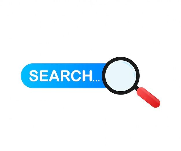 Imposta elemento della barra di ricerca, set di template ui caselle di ricerca isolato Vettore Premium