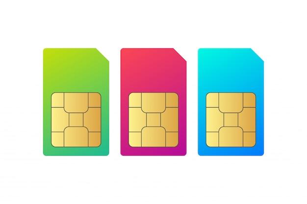 Imposta il chip della scheda sim Vettore Premium