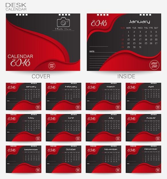 Imposta Calendario.Imposta La Scrivania Rossa Calendario 2018 Scaricare
