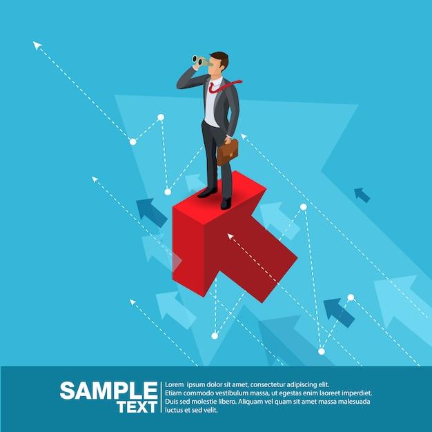 Imprenditore futuro concept finance manager business man. Vettore Premium
