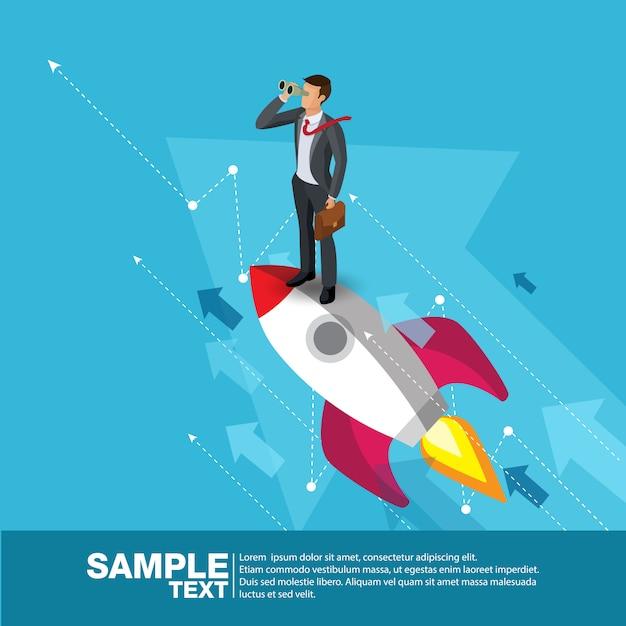 Imprenditore futuro concept finance Vettore Premium