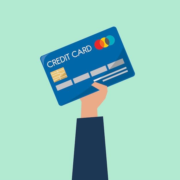 Imprenditore in possesso di una carta di credito Vettore gratuito