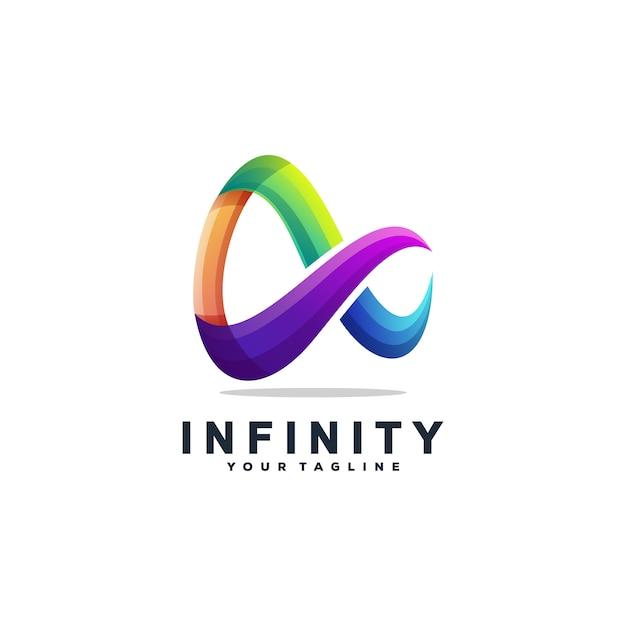 Impressionante infinity logo design vettoriale Vettore Premium