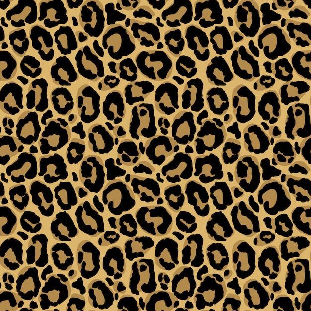 Impronta animale. modello senza cuciture con texture di pelliccia di leopardo. ripetendo carta da imballaggio, carta da parati o scrapbooking. Vettore Premium