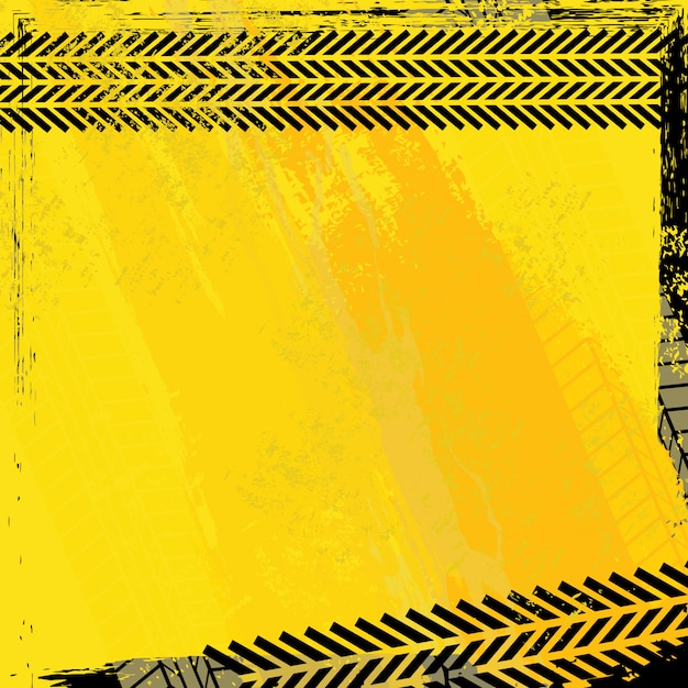 Impronte di pneumatici Vettore Premium