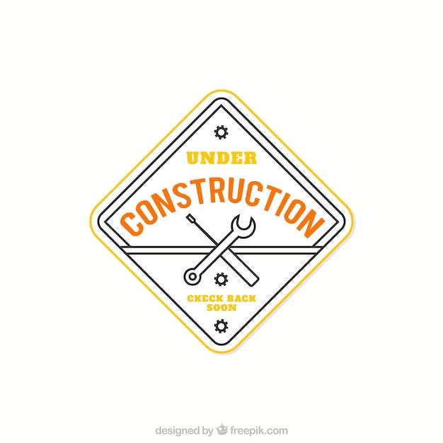 In costruzione distintivo scaricare vettori gratis for Software di costruzione gratuito