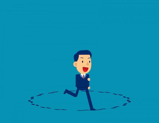 In esecuzione in cerchio. direzione aziendale Vettore Premium