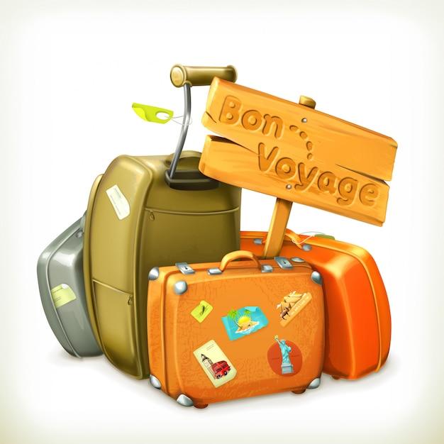 In viaggio, illustrazione Vettore Premium