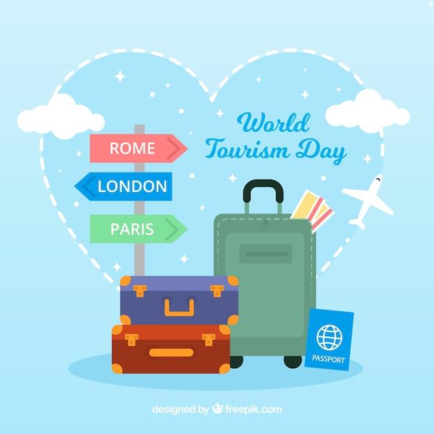 Incantevole composizione del turismo mondiale Vettore gratuito