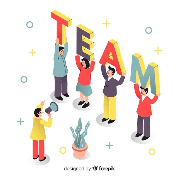 Incontra il nostro concetto di squadra per la pagina di destinazione Vettore gratuito