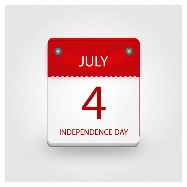 Independence day calendario Vettore gratuito