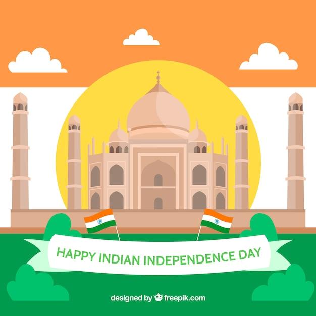 Indiano sfondo del giorno dell'indipendenza Vettore gratuito