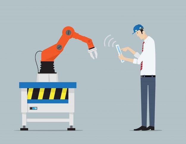 Industry4_concept Vettore Premium