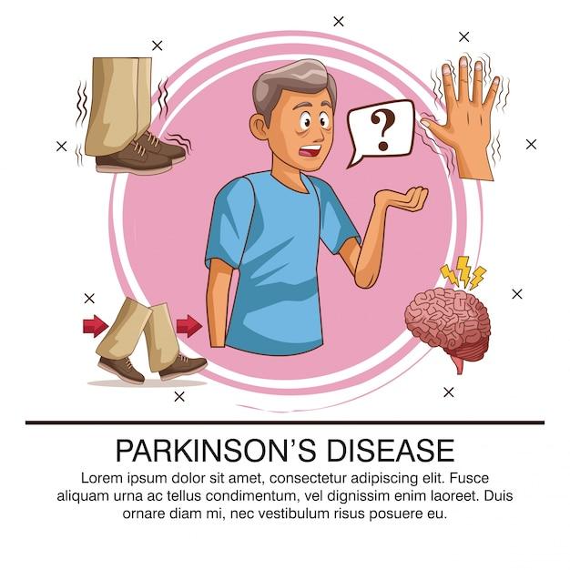Infestazione da malattia di parkinson Vettore Premium