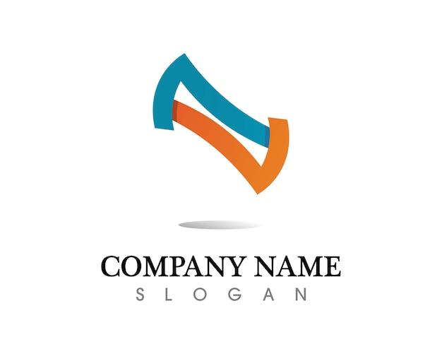 Infinity logo e icone del modello simbolo app Vettore Premium