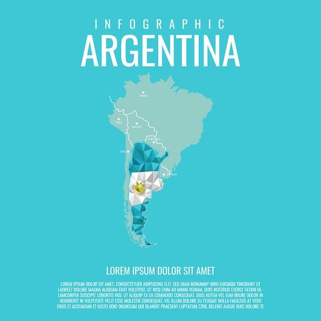 Infografica argentina Vettore Premium