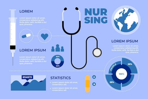 Infografica assistenza sanitaria medica Vettore gratuito