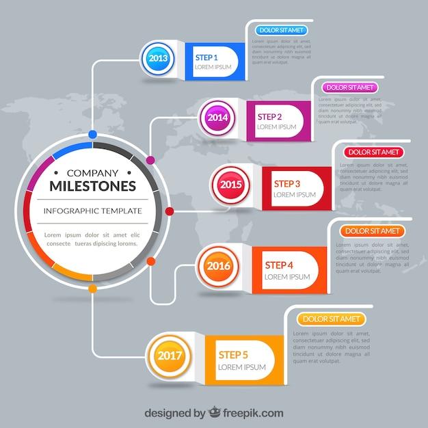 Infografica aziendale astratta Vettore gratuito