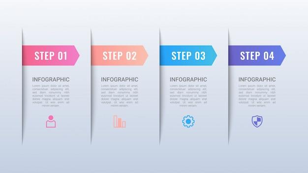 Infografica business semplice con opzioni Vettore Premium