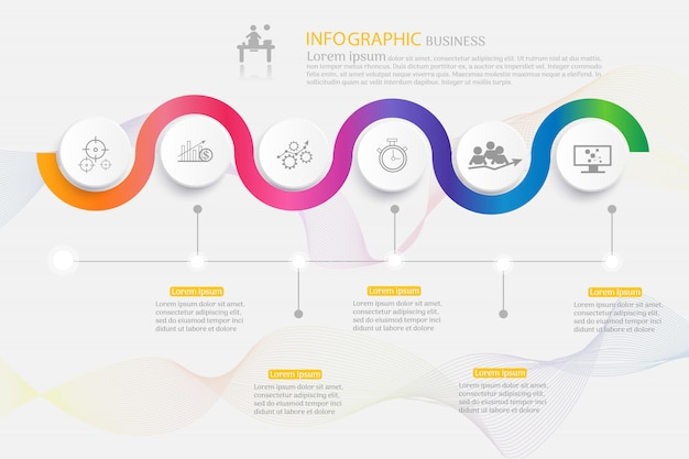 Infografica business03 Vettore Premium