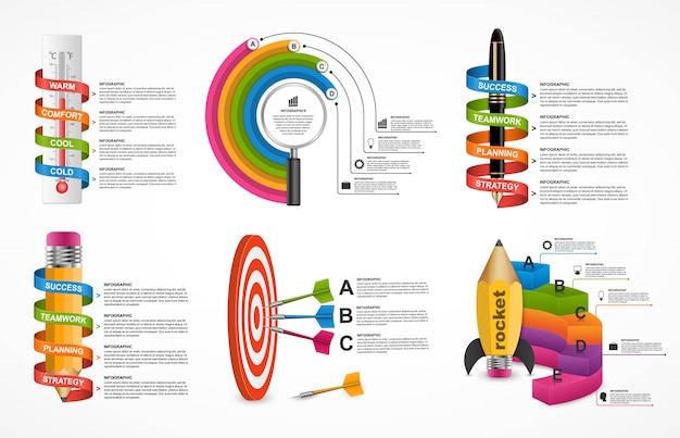 Infografica collezione Vettore Premium