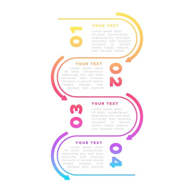 Infografica colorato in design piatto Vettore gratuito