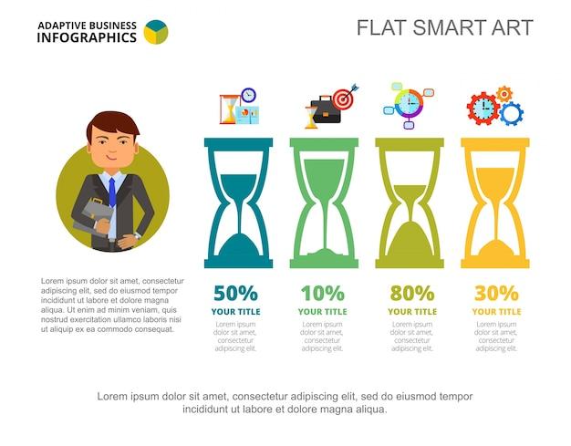 Infografica di affari con sandglasses Vettore gratuito