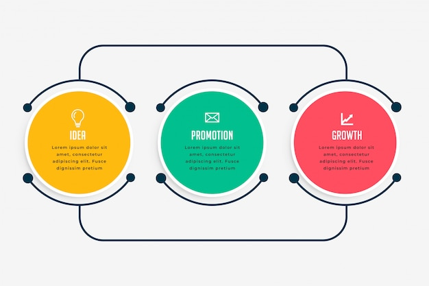 Infografica di affari passi in linea stile Vettore gratuito