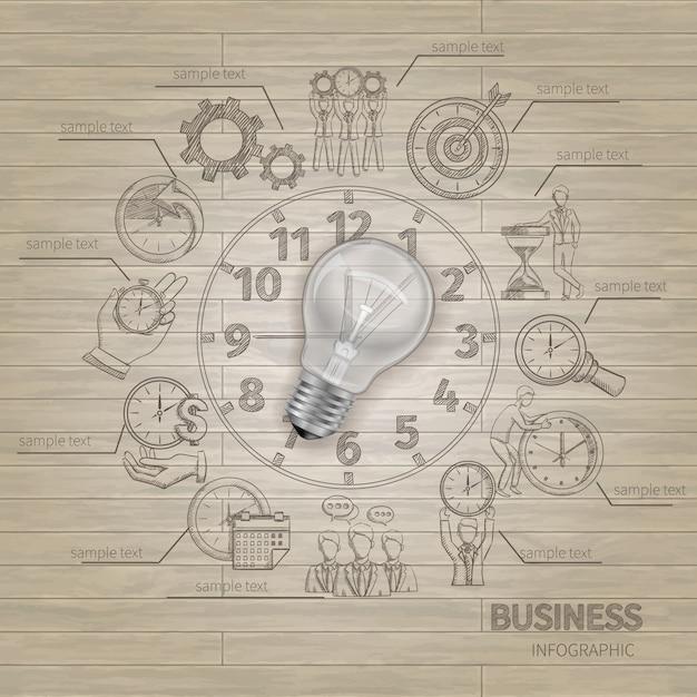 Infografica di gestione del tempo Vettore gratuito