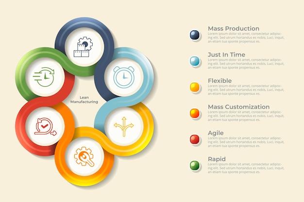 Infografica di produzione Vettore gratuito