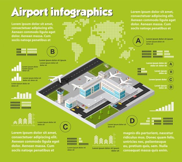 Infografica di viaggi aerei Vettore Premium