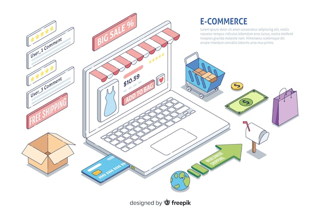 Infografica e-commerce Vettore gratuito