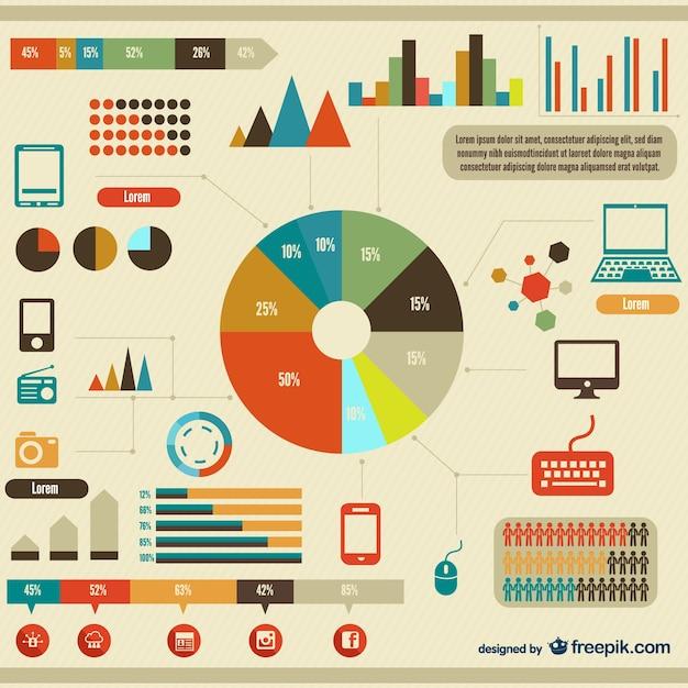Infografica elementi di design vettoriali gratis for Costruttore di layout gratuito