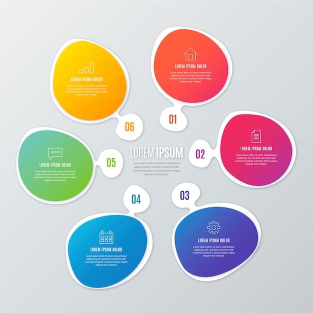 Infografica forma astratta sfumata Vettore gratuito