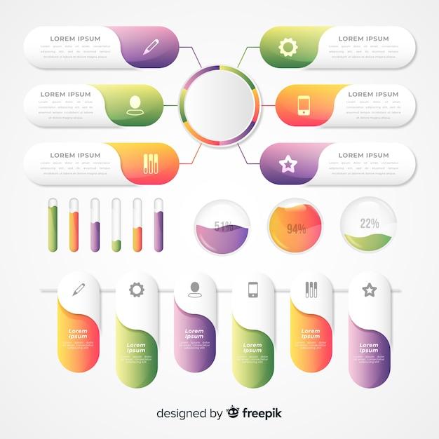 Infografica gradiente aziendale Vettore gratuito