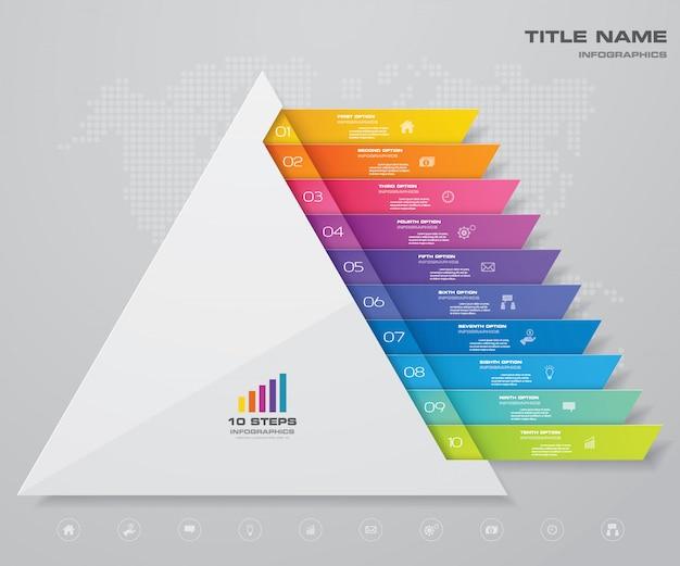 Infografica grafico a piramide Vettore Premium
