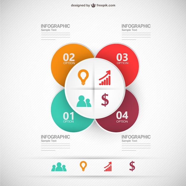 Infografica illustrazione vettoriale modello di business Vettore gratuito