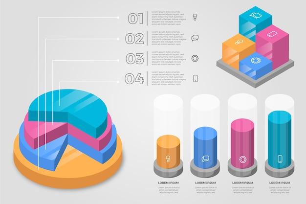 Infografica isometrica di affari Vettore gratuito