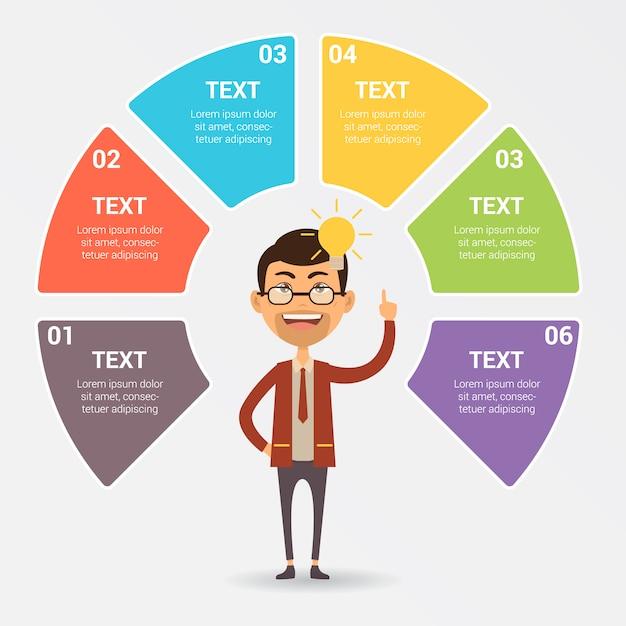 Infografica modello di progettazione Vettore gratuito