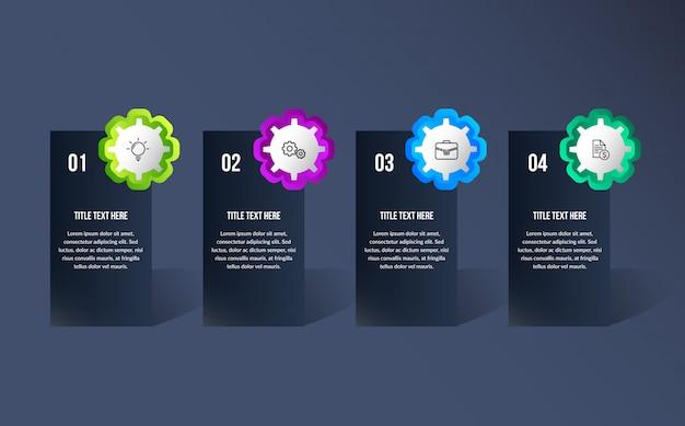Infografica moderna a colori Vettore Premium