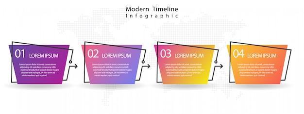 Infografica moderna timeline Vettore Premium